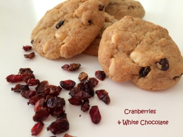 cranberries & white chocolate