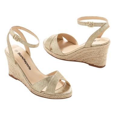 sandales dorées Blancheporte